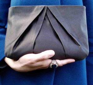 Sunray Pleated Clutch